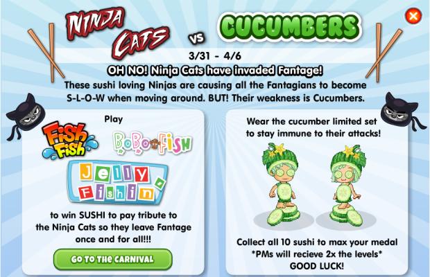 Fantage Cat Ninjas vs Cucumbers Event – Fantagious Fantage